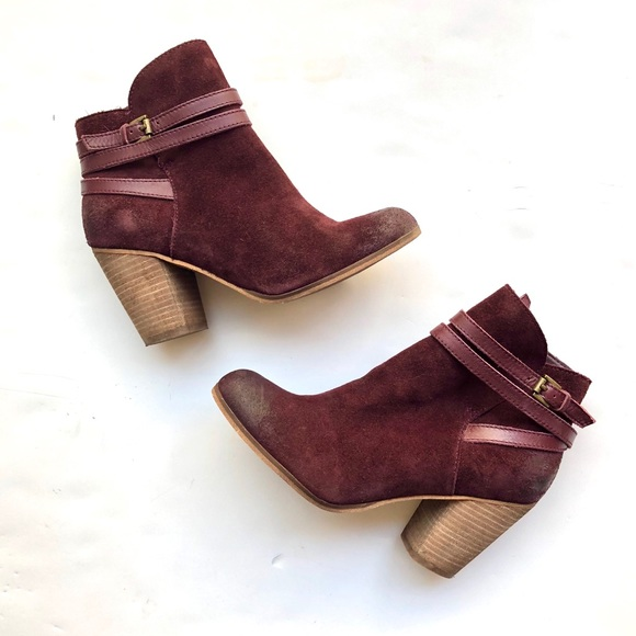 f813e5341ed2 bp Shoes - 🆕BP Burgundy Distressed Ankle Boots